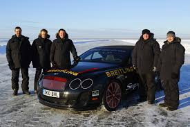 bentley 1995 kankkunen breaks world ice speed record with bentley continental