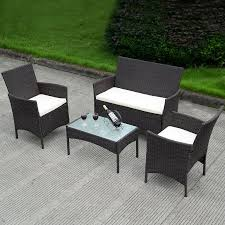 Outdoor Rattan Garden Furniture by Brown Rattan Garden Chairs