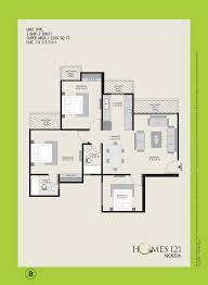 homes 121 floor plan sector 121 noida
