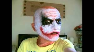 silicone mask halloween wearing my heath ledger joker silicone mask youtube