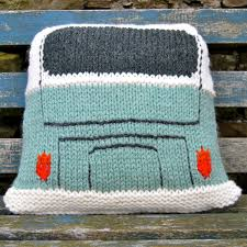 Knit Cushion Cover Pattern Pattern Knit A Splitty Campervan Kombi Cushion Cover Based On