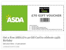 70 asda supermarket voucher scam seen a voucher on facebook