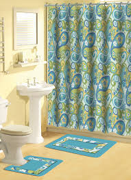 Dressed To Thrill Shower Curtain Blue Waters Bath Set 5 Piece Coastal Nautical Decor Shower Curtain