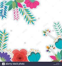 Tropische Pflanzen Im Garten Tropische Blüten Und Blätter Symbol Garten Natur Pflanzen Und
