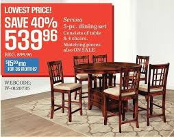 sears dining room sets sears serena 5 dining set redflagdeals com
