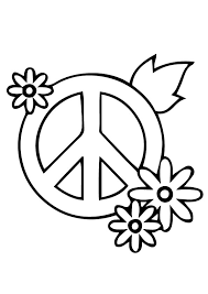 30 peace sign coloring pages coloringstar