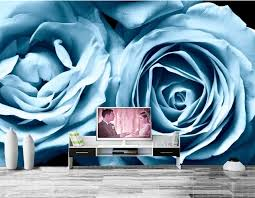 light blue flowers custom roses light blue flowers wallpaper hotel coffee shop living