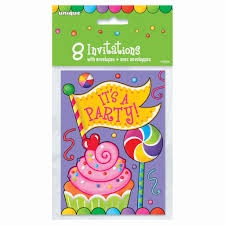 Candy Themed Party Decorations Candy Party Invitations Candy Themed Party Supplies