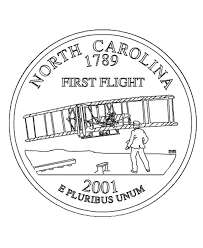 coloring pages quarter usa printables carolina state quarter us states coloring