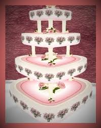 heart wedding cake second marketplace always in my heart wedding cake pink