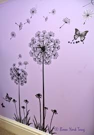 wall stickers myphotojourney co uk dandelion and butterfly wall sticker dandelion and butterfly wall stickers