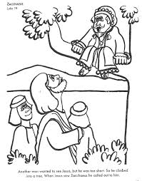 Children S Bible Coloring Pages For Learning Bible Stories Zacchaeus Coloring Page