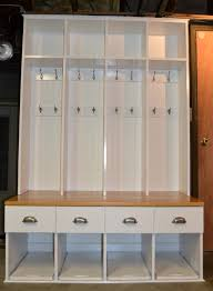 furniture white solid wood mudroom locker decor with curved