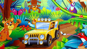 safari jeep cartoon safari jigsaw puzzle 4k jungle сафари cartoon мультфильм