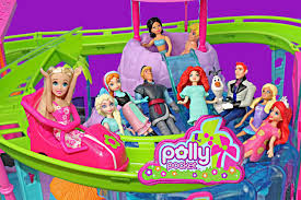 polly pocket roller coaster ride frozen elsa anna merida hans