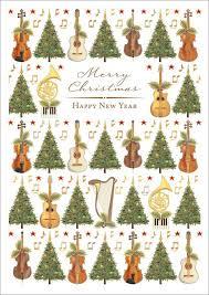 quire publishing tree violin music christmas card mcx4464