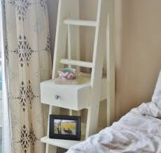 wood ladder nightstand optimizing home decor ideas unique