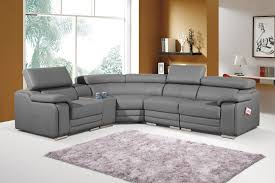 Dakota Stylist Modern Grey Leather Corner Sofa LeftHand - Cornor sofas