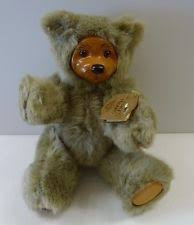 wooden faced teddy bears robert raikes bears playtime cookie wooden brown teddy