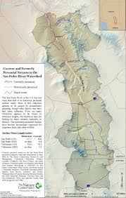 Arizona Rivers Map by Current And Formerly Perennial San Pedro River Surface Water Map
