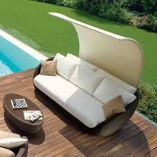 rattan lounge sofa rattan lounge sofa überdachung roberti italien terrasse garten