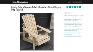 Free Plans For Outdoor Rocking Chair by Top 8 Free Adriondack Chair Plans U0026 Designs