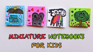 how to make cute miniature notebooks for kids crafts with paper