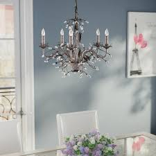 Upside Down Crystal Chandelier House Of Hampton 5 Light Crystal Chandelier U0026 Reviews Wayfair