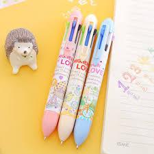multifunction 7 in 1 colorful ballpoint pen cartoon animal