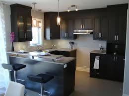 cuisine et comptoir comptoir de cuisine en bois marron foncé meuble mural blanc élégant
