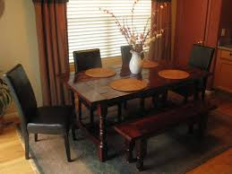 Kitchen Table With Bench And Chairs Bench Praiseworthy Small Rectangular Dining Table With Bench