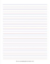 printable story writing paper 12 best images of blank printable writing paper primary primary primary grade lined writing paper