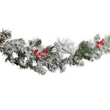 72 snowy needles pine garland with berries tree shops
