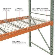 pallet rack global nashville wire mesh decking 46 u0026quot w x
