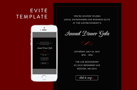 formal dinner evite psd template email templates creative market