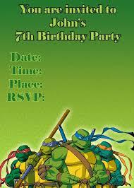 tmnt birthday invitations u2013 gangcraft net