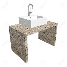 modern bathroom sink set with ceramic or acrylic wash basin