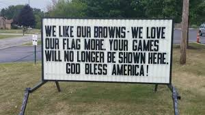 Cleveland Browns Flag Vfw Post Takes Stand Against Cleveland Browns Anthem Protest