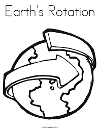 earth u0027s rotation coloring page twisty noodle