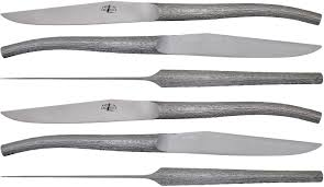 couteau de table log par philippe starck lot de 6 inox satiné