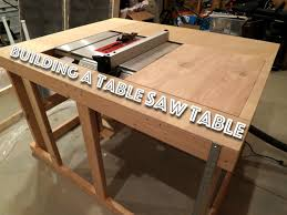 table saw station plans making a cheap table saw table part 1 youtube