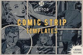 vector comic strip templates objects creative market