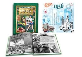 60th anniversary gift anniversary gift idea book for 1956