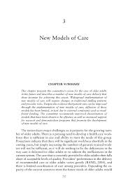 3 new models of care retooling for an aging america building