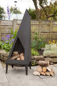 Steel Chiminea Made O U0027 Metal Steel 1 3m Garden Patio Triangle Angled Chimenea Log