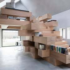 Office Stairs Design by Bookshelf Staircases Dezeen