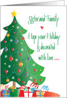 christmas cards for sister u0026 her family from greeting card universe