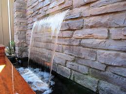 modern stone fountains indoor wall garden water features floor