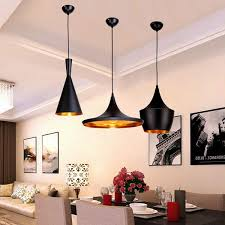 Black Hanging Light Fixture Creative Musical Instrument Black Pendant Light Bar Coffee Dining