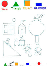 shapes and colours printable worksheets about service with shapes